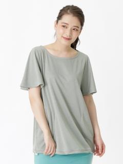 フレアスリーブドロストチュニックTシャツ