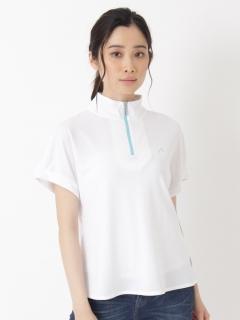 メッシュハーフジップTシャツ