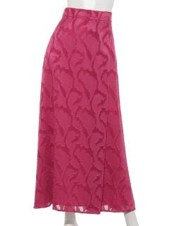 ジャガードシフォンマキシスカート