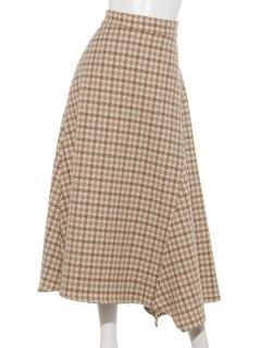 チドリ柄フレアースカート