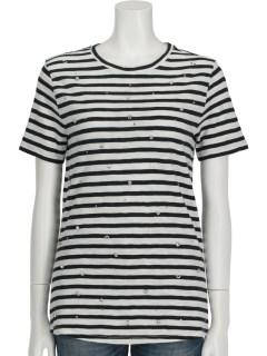 ボーダービジューTシャツ