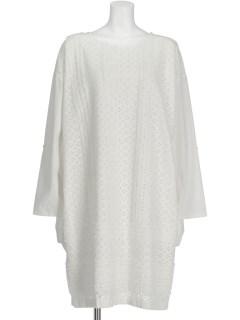 タオル刺繍切替ドレス