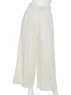 コットンフレックススカラ刺繍パンツ