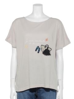 夏雑貨刺繍Tシャツ