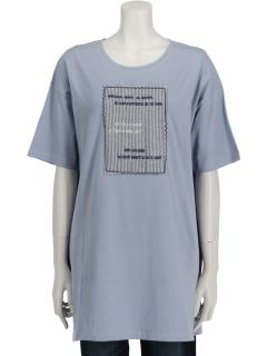 LOGO&PATCH刺繍Tシャツ