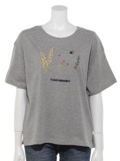 MIMOSA刺繍Tシャツ