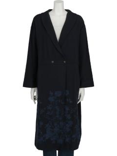 フラワー刺繍コート