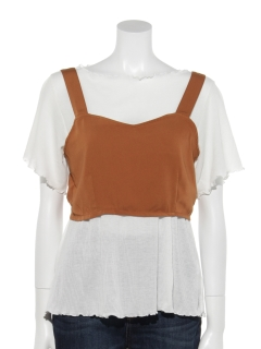 ・SET2点ビスチェ&Tシャツ
