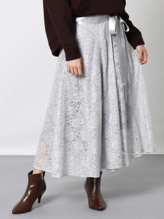 ラッセルレースロング巻きスカート