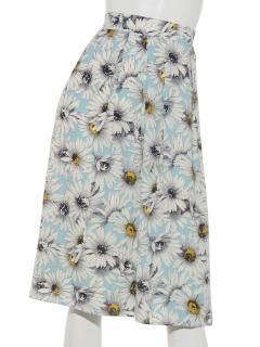 花プリントスカート