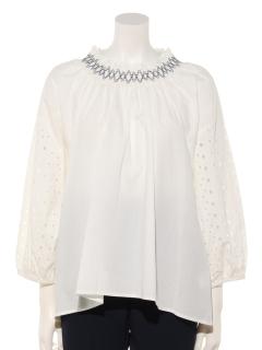 衿刺繍プルオーバー
