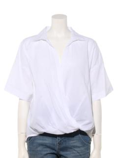 ・スキッパーカシュクールシャツ