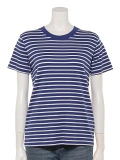 60新彊綿スムースボーダークルーネックTシャツ