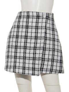 Tweed チェックツイードミニスカート
