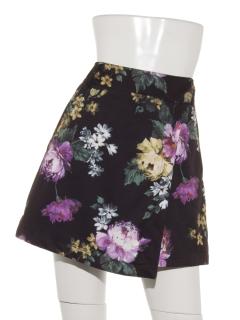 Vintage Flower ラップ風パンツ