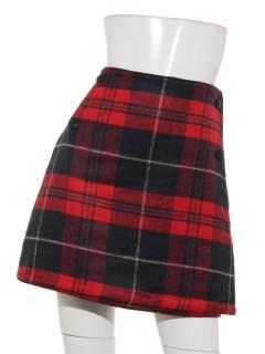 リバーシブルチェックリバーシブルラップスカート