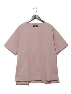 クルーネックポプリンシャツ