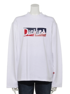 Dickies裏起毛綿ストレッチプリントハイネックL/S-Tシャツ