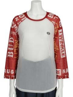 袖ロゴミックスTシャツ