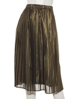 箔ジョーゼットプリーツスカート