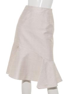 ラメスクエアジャガードスカート
