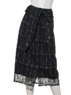ラッセルレースプリントスカート