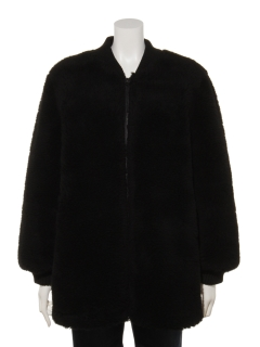 ウール入りボアミドル丈ジャケット