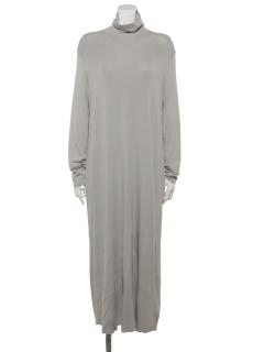 モックネックAラインロングドレス