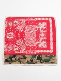 スカーフ カモフラバンダナ