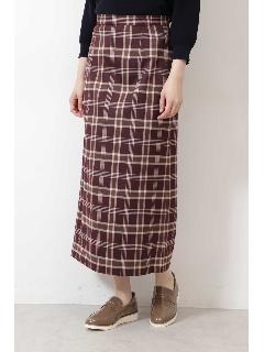 [洗える]チェックナロースカート