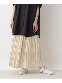 サテンプリーツマキシスカート