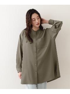 [洗える]ドビーチュニックシャツ