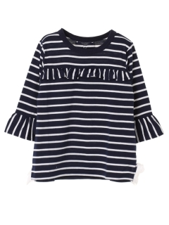 【KIDS SELECT】8分袖ボーダーチュニックTシャツ