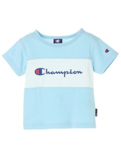 【earth music&ecology Kids】Champion胸切替半袖Tシャツ