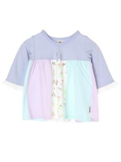 【chocola wish】8分袖パッチワークチュニクTシャツ