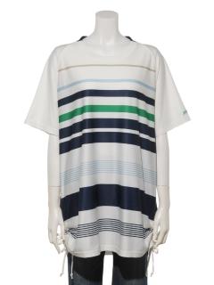UVドライタッチ美シルエットチュニックTシャツ