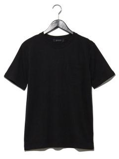 ジャガードサッカーストライプTシャツ