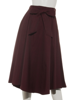 リボンベルトボリュームスカート