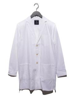 綿麻ラペルロングシャツ