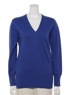 Co/Wool V-neck Pullover