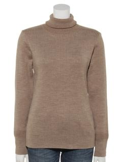 Cotton rib Turtle-neck Pullover