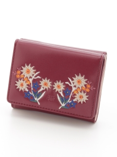 EMBROIDERY TRIFOLD WALLET