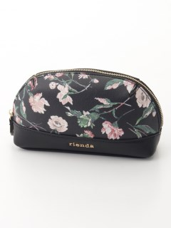 OLD ROSE FLOWER PRINT POUCH