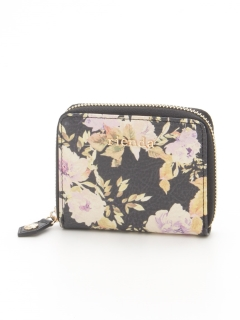 VINTAGE ROSE FLOWER PRINT ROUND TWO FOLD WALLET