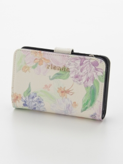 FRILL ROSE FLOWER PRINT TWO FOLD WALLET