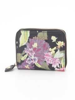 FRILL ROSE FLOWER PRINT ROUND TWO FOLD WALLET