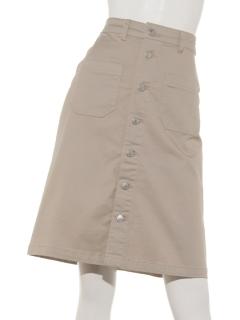 前ボタンAラインスカート