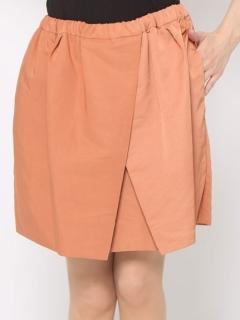 グログランギャザースカート