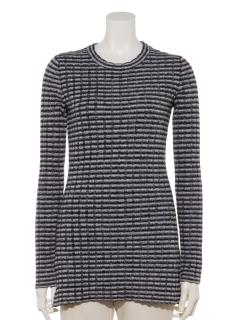 太目リブ編みセーター