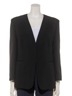 ノーカラー七分袖ジャケット